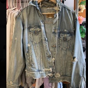 Vintage Ralph Lauren distressed denim jacket